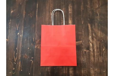 Крафт пакет красный