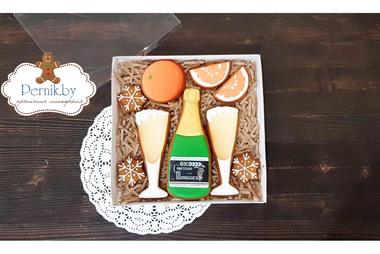 Набор пряников Шампанское с апельсинами