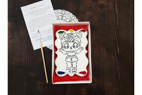 Пряник раскраска Кукла ЛОЛ