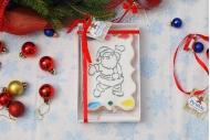 Пряник раскраска веселый Дед Мороз