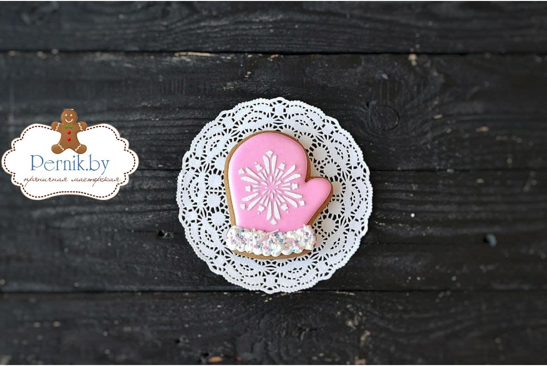 Пряник Рукавичка розовая